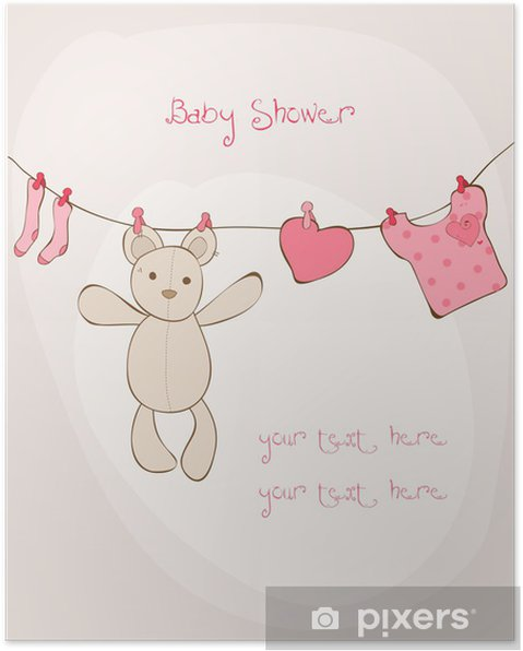 baby shower tekst kort