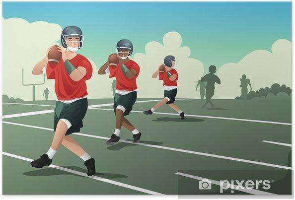 bfed1dc0 Plakat Barn i amerikansk fotballpraksis • Pixers® - Vi lever for ...