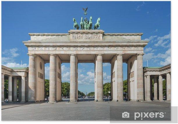 Plakat Brandenburger Tor Berlin Pixers Vi Lever For Forandring