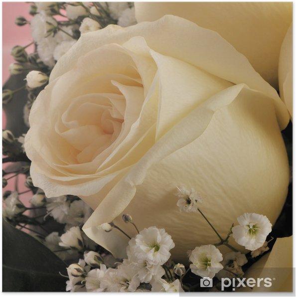 170e1106 Plakat Brude blomster - bryllup roser • Pixers® - Vi lever for ...