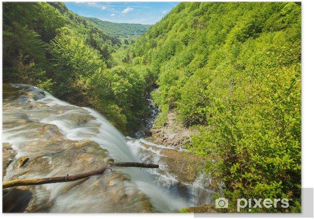 Plakat Cascade Du Jura Frankrike Pixers Vi Lever For Forandring