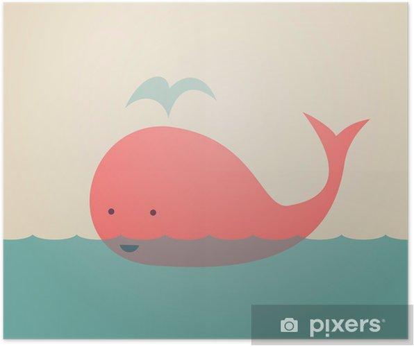 Cute Whale Plakat -