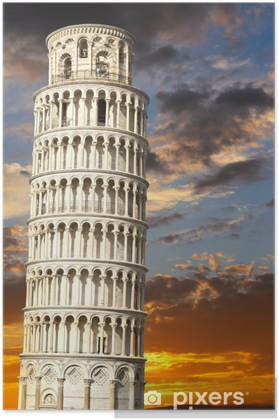 Det skæve tårn i Pisa Plakat • Pixers® - Vi lever for forandringer