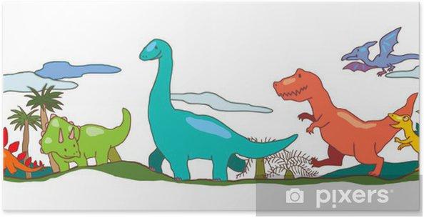 Dinosaur Verden I Børn Fantasi Plakat Pixers Vi Lever For