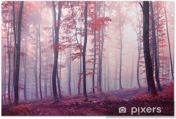 5ac66d78a1d Fantasy efterår farve skov Plakat • Pixers® - Vi lever for forandringer