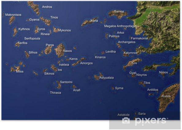 Græske øer kort Drop de
