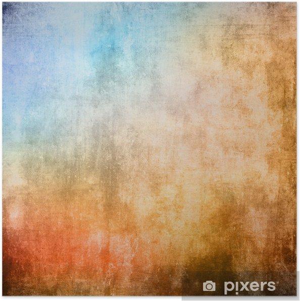 17610b1c Plakat Grunge fargestruktur, blå og brun farge • Pixers® - Vi lever ...