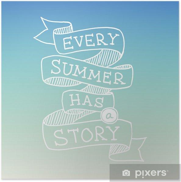 Håndtegnede Sommer Citat Vektor Illustration Plakat Pixers Vi