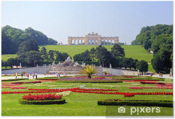 Haver af Schonbrunn Palace, Wien, Østrig Plakat - Europæiske Byer