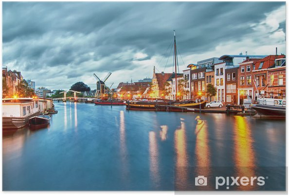 Hdr ... Leiden ... Holland Plakat - Europa