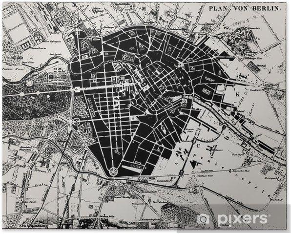 Historisk Kort Over Berlin Tyskland Plakat Pixers Vi Lever