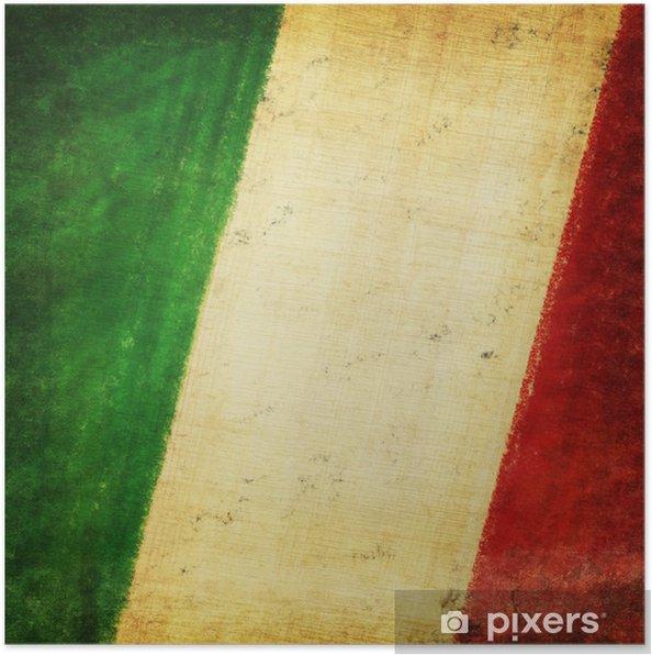 Italien Flag Tegning Grunge Og Retro Plakat Pixers Vi Lever