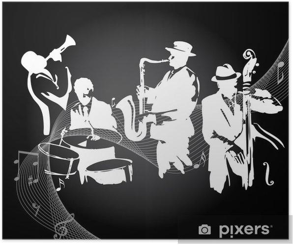 Jazz koncert sort baggrund Plakat -