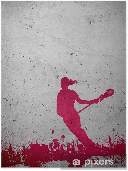 Plakat Lacrosse bakgrunn - Lagidrett