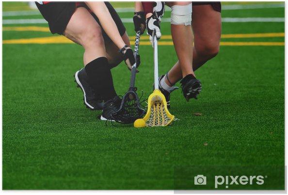 Plakat Lacrosse kjemper for ballen - Utdanning