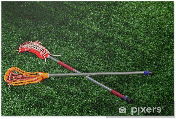 Plakat Lacrosse pinner på bakken - Lagidrett