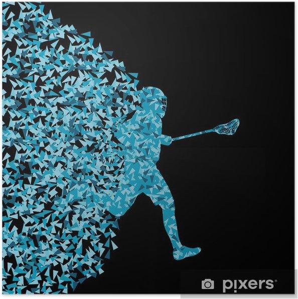 Plakat Lacrosse spillere aktiv sport silhuett bakgrunn illustratio - Themes
