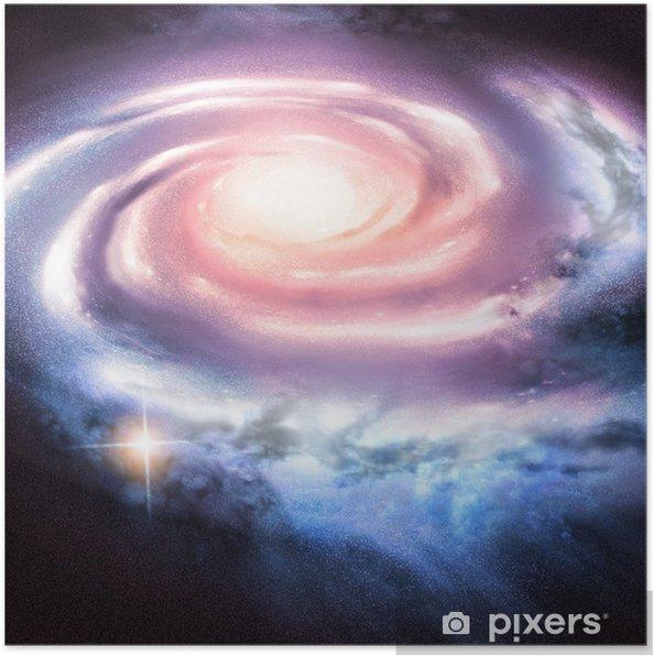 Light Years Away - Fjern spiral galakse. Plakat -