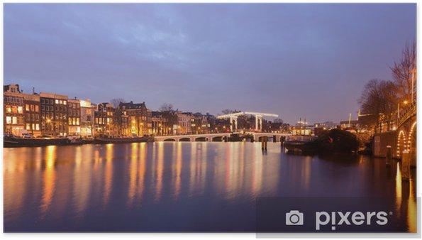 Magere Brug på Amstelfloden i Amsterdam Plakat - Europæiske Byer