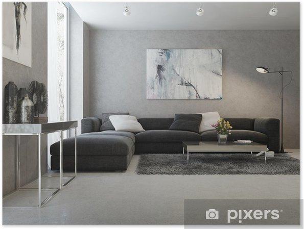 Enorm Plakat Moderne interiør i stuen • Pixers® - Vi lever for forandring SE-37