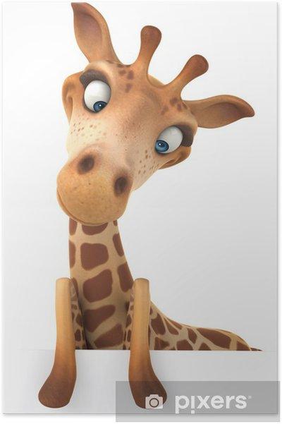 Plakat Morsom giraffe - Tegn og Symboler