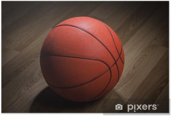 Nærbillede af basketball Plakat -