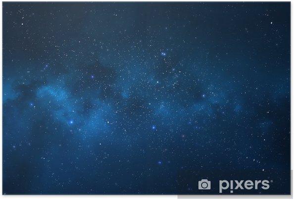 Nattehimmel - Universe fyldt med stjerner, nebula og galakse Plakat -