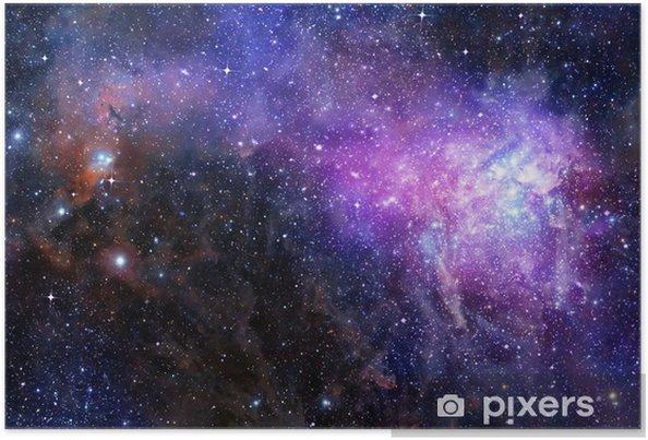 Nebula gas sky i dybt ydre rum Plakat -