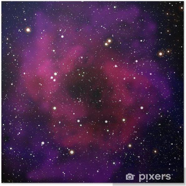 Nebula og stjerne i rumområdet Plakat -