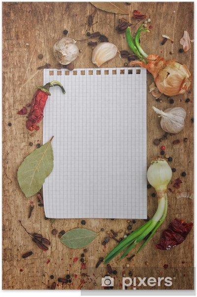 6c88a671 Plakat Notatbok for å skrive oppskrifter med krydder • Pixers® - Vi ...