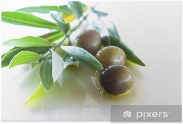 4fb873e42 Plakat Oliven og olje med blader