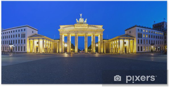 Panorama brandenburg gate berlin Plakat -