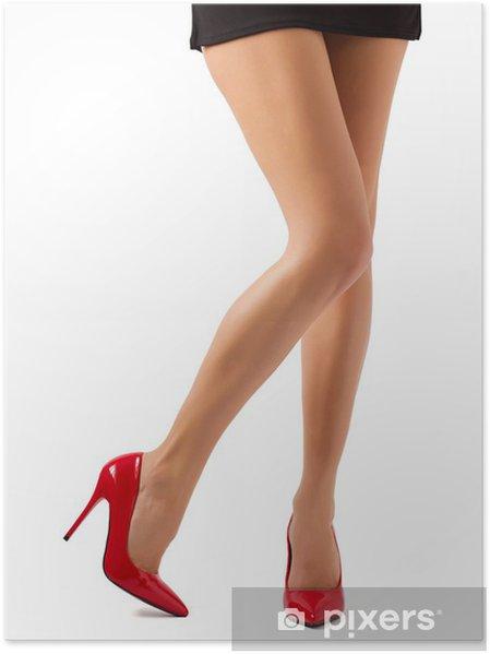 9680a46c380 Perfekt kvinder ben i røde sko Plakat