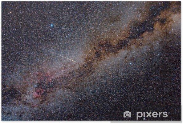Perseid Meteor Crossing the Milky Way Plakat -