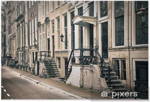 Perspektiv af den gamle amsterdam Plakat -