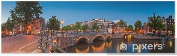 Refleksioner af Amsterdam, Holland Plakat -