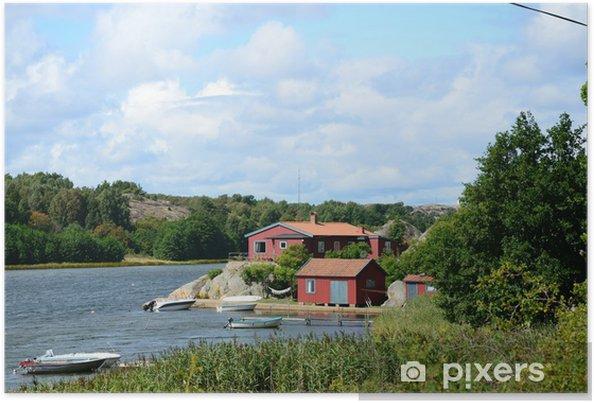 093efffb Røde Huse ved Havet (Sverige) Plakat • Pixers® - Vi lever for ...