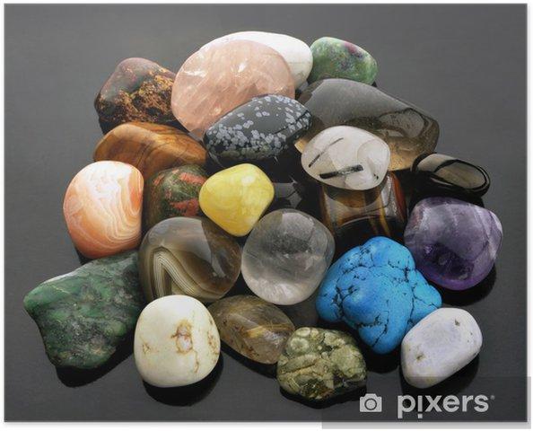 f1562b04 Plakat Samling av halvverdige edelstener • Pixers® - Vi lever for ...