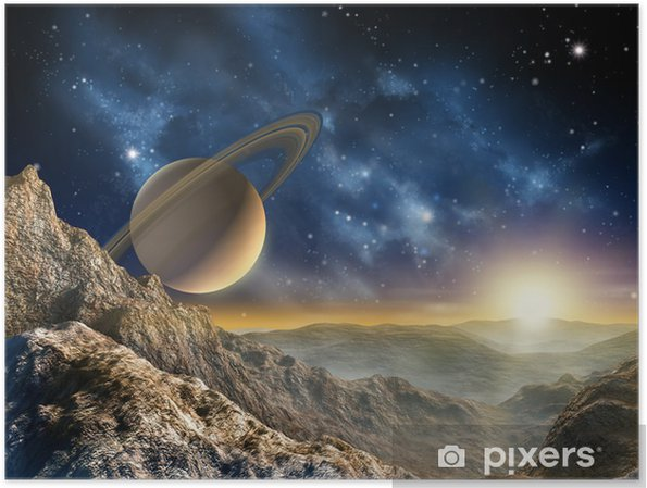Saturn moon Plakat -