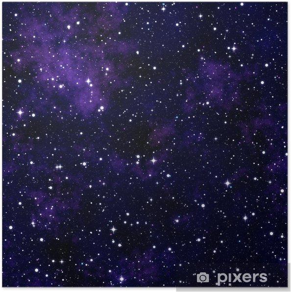 Sømløs tekstur simulerer nattehimlen Plakat -