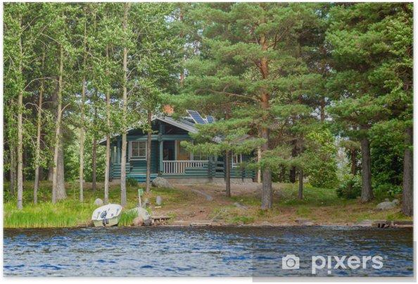 59ea84dd Sommerhus ved søen i landdistriktet Finland Plakat • Pixers® - Vi ...