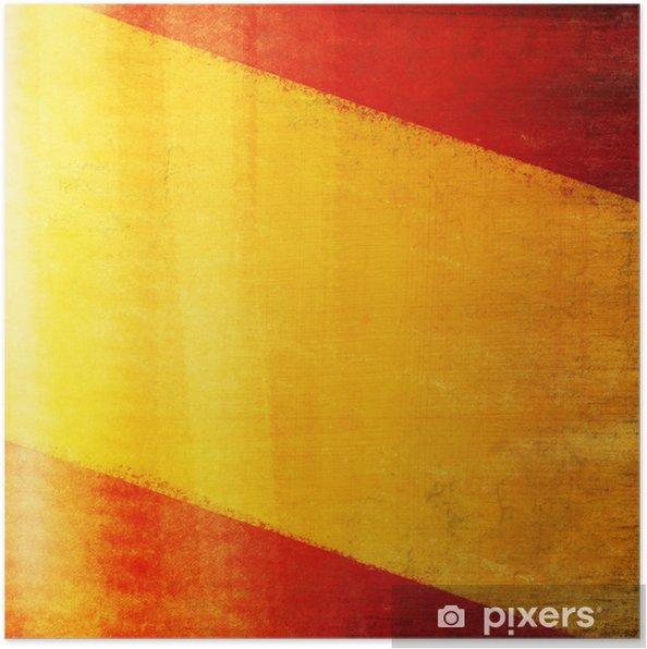 Spanien Flag Tegning Grunge Og Retro Plakat Pixers Vi Lever
