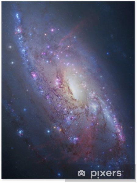 Spiral galakse i dyb rum. Elementer af billede indrettet af NASA Plakat -