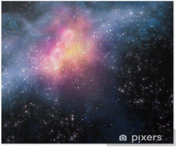 Stjerneklar baggrund af dybt ydre rum Plakat -