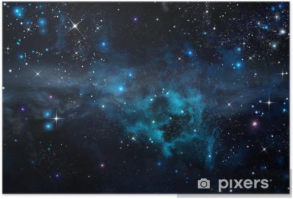 Stjerneklar himmel i det åbne rum Plakat -