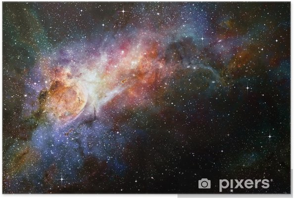 Stjerneklare dyb ydre rum nebual og galakse Plakat -