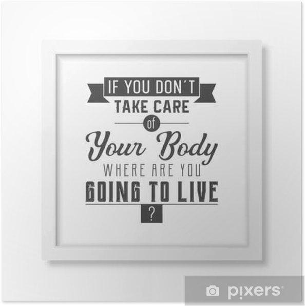 sundheds citater Sundheds citat. Typografisk plakat. Plakat • Pixers®   Vi lever  sundheds citater