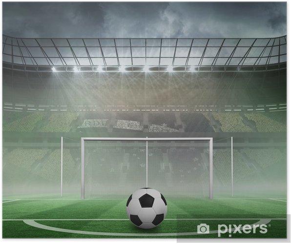 428fc405 Plakat Svart og hvit fotball • Pixers® - Vi lever for forandring