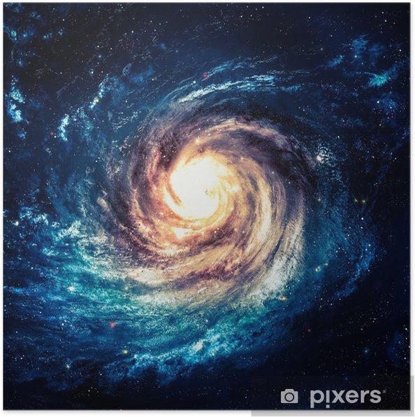 Utroligt smuk spiral galakse et eller andet sted i dybt rum Plakat -