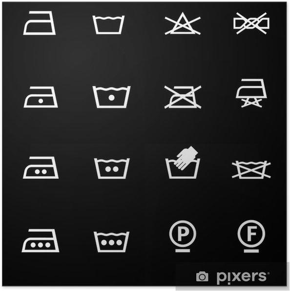 b14e13df Plakat Vaske ikoner sett • Pixers® - Vi lever for forandring